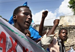 Antiislamistenterror Demonstration, Mogadischu1, (c)AFP, 7dec09