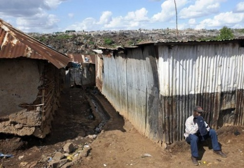 Armenviertel in Nairobi, Kenia, (c)AFP, jun09