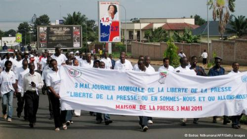 Journalisten-Demo in Bujumbura